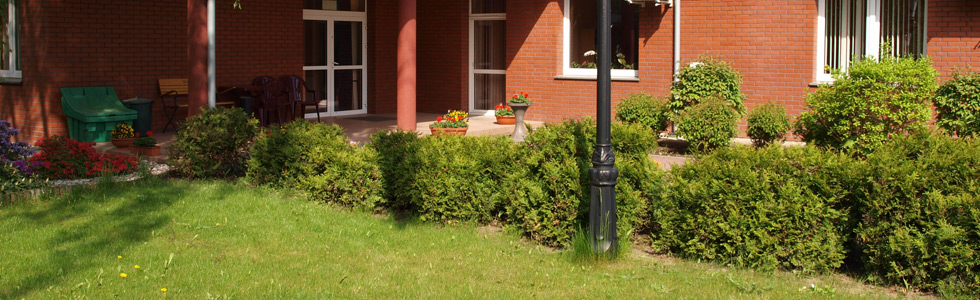 Baner: Zdjęcie budynku hospicjum