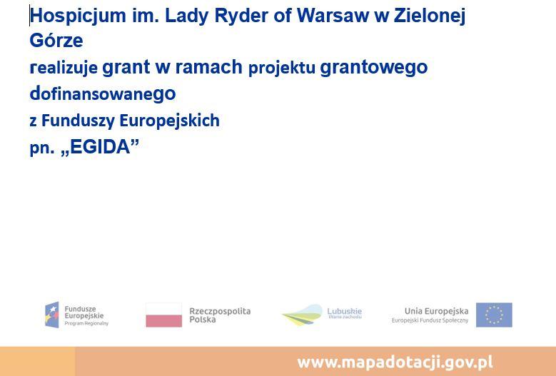 """Ilustracja do informacji: Grant w ramach projektu dofinansowanego z Funduszy Europejskich pn. """"EGIDA"""""""